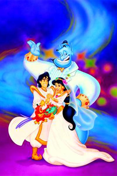 Aladin - Coloriage de jasmine et aladin ...